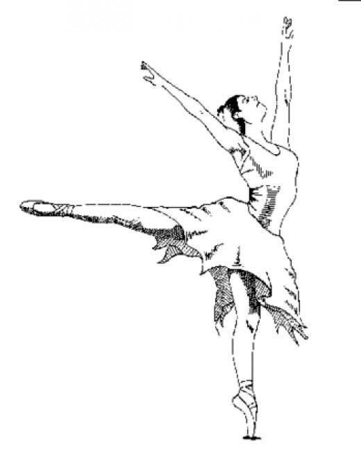 I saw myself as a famous ballerina!