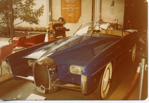 A very rare Bugatti indeed! I believe this was made in 1957. (copyright.)