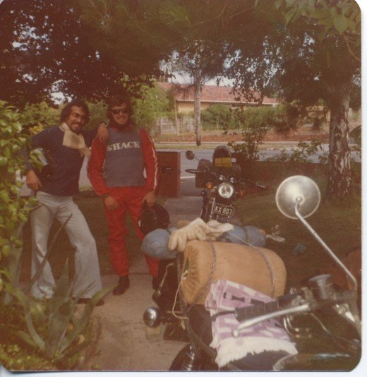 Getting packed for an 800 mile ride to Adelaide then back. I'm the one without the leathers.
