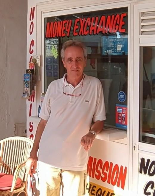 Tenerife estate agent Pete Bennett outside his offices