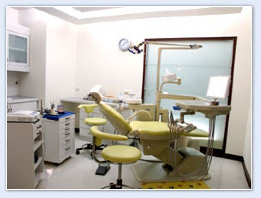 Exam room for cleaning