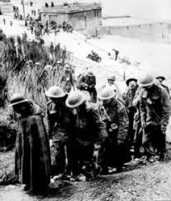 British prisoners at Dunkirk, 1940