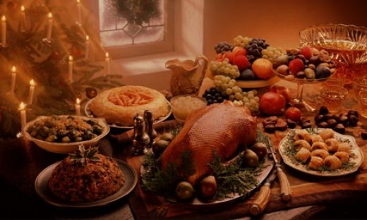 Christmas feast in the developed world
