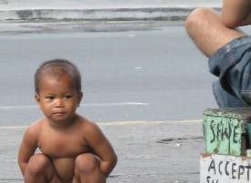 Naked streetkid