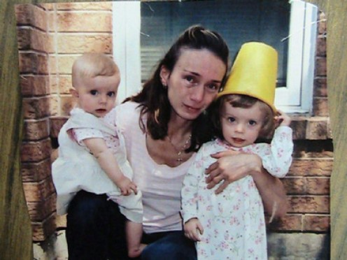Happier Times?  Elaine With Her Daughters, Sophia right, and Serena left.