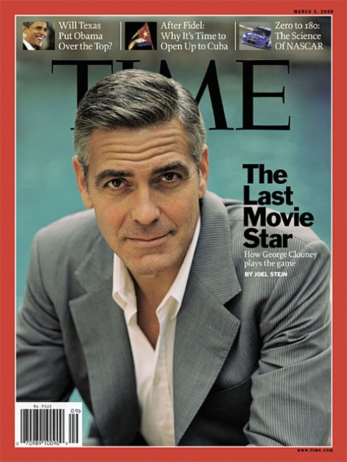 George Clooney on Time Magazine cover