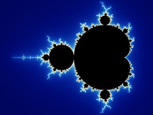 The famous Mandelbrot Set. A pattern derived from a single equation, defying complete explanation. An infinite fractal, much like the universe.