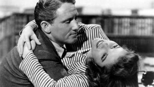 Spencer Tracy and his long-time love Katherine Hepburn