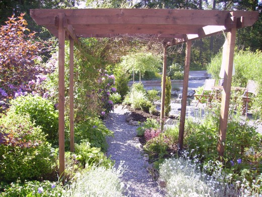 Every flat garden should have a pergola!