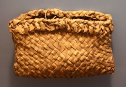 Traditional cedar basket for gathering wild rice.