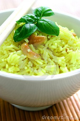 A BOWL OF LEMON FLAVOURED FRAGRANT RICE