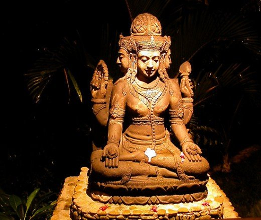 Brahma, a Hindu god
