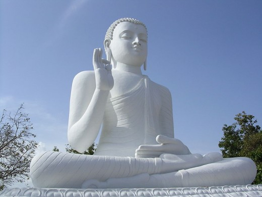 Buddha statue at Mihintale, Sri Lanka