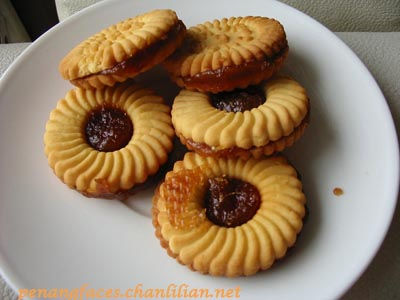 pineapple jam biscuit