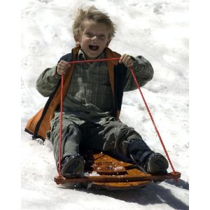 Now this is why I love the wintertime! Sledding just totally rocks!