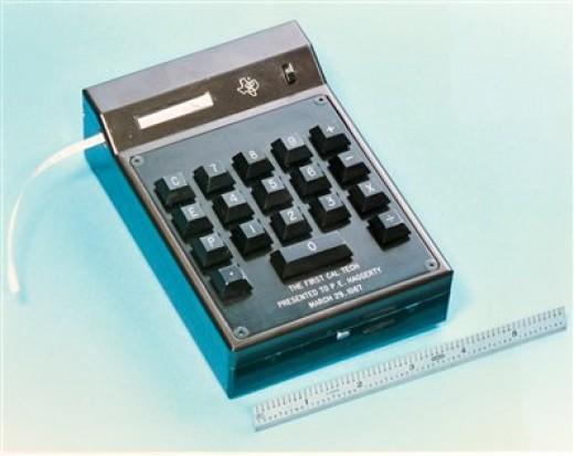 Texas Instruments' hand held calculator.