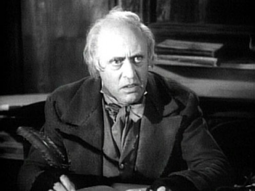 "Alastair Sim as Scrooge in ""A Christmas Carol."""