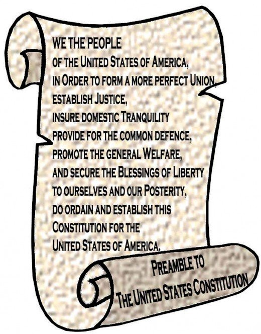 This is the preamble to the Constitution for the United States of America. Internet searches will turn up more hits for Constitution of the United States of America.