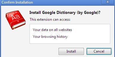 install google dictionary