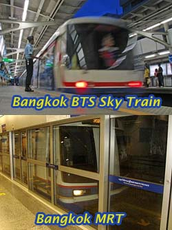 BTS Sky Train and MRT Subway - Same Same But Different
