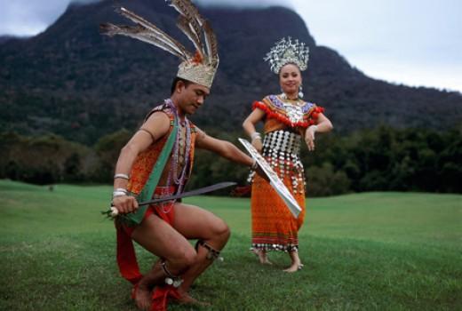 Sarawak traditional dance