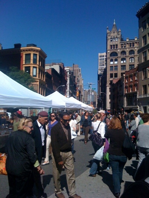 The Union Square Green Market in New York City
