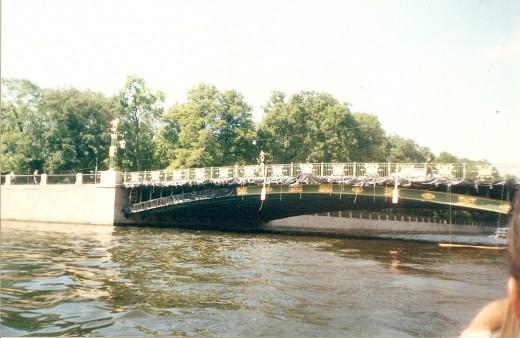 Bridge over Neva River in St. Petersburg, Russia