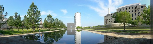 Panoramic View of the Oklahoma City National Memorial and Museum