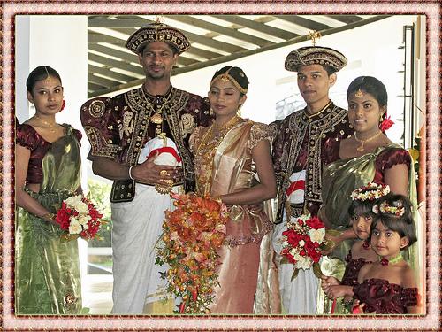 Traditional Kandyan wedding, bride and the groom