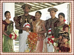 Traditional Kandyan wedding, bride and the groom