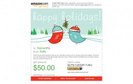 Example of the brilliant Amazon gift cards you can send!