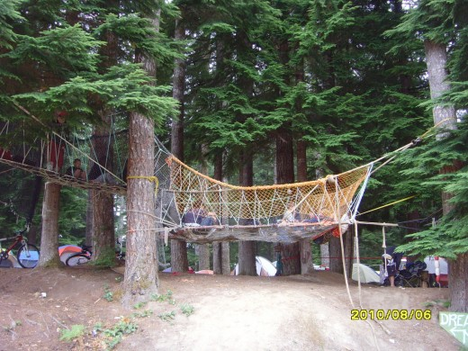 The dream net. Where children would play during the day