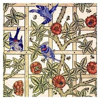 William Morriss favorite wallpaper design, which he designed and used to adorn his bedroom in the Red House beautifully demonstrates the use of rich colors.