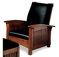 Chair designed by William Morris displays the quality of the material and craftsmanship.