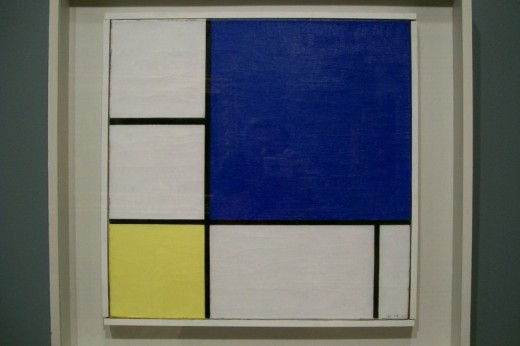 "Fig. 1: This is Piet Mondrian's ""Blue, White and Yellow."""