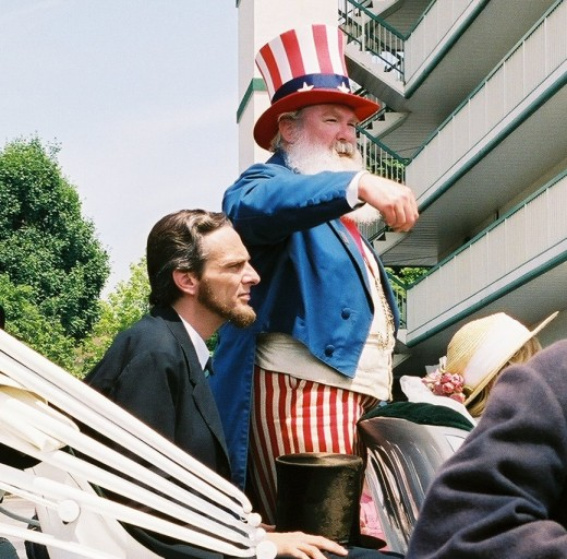 Gettysburg Memorial Day Parade - Abe Lincoln and Uncle Sam