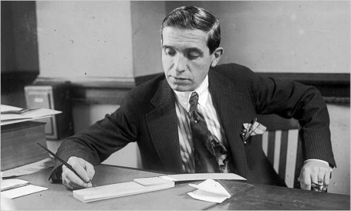 Charles Ponzi, infamous for US Federal mail fraud and lacerny at the state level.