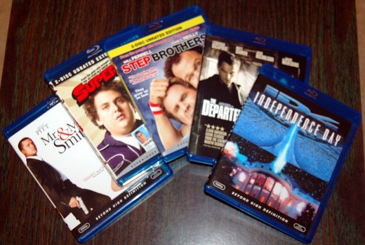 Chris and I went Black Friday Shopping today, but since we didn't head out til after noon, there weren't many deals left.  I did manage to scoop up some $5 blu-rays though.