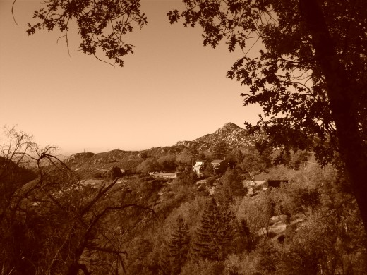 Here is a sepia picture of the Pinnacles.