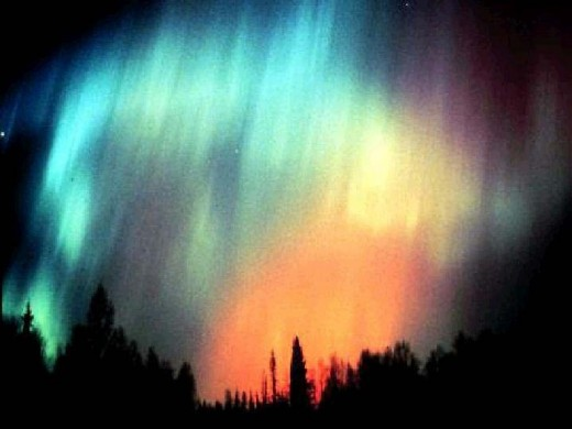 In this aurora photo, we can even see streaks within each curtain of ions. This is the nature of the magnetic field, to group into discrete sheets and filaments.