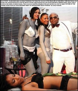 Businessman Kenny Kunene celebrating his birthday