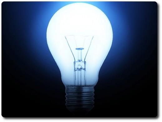100-watt light bulb and 2 50-watt light bulbs
