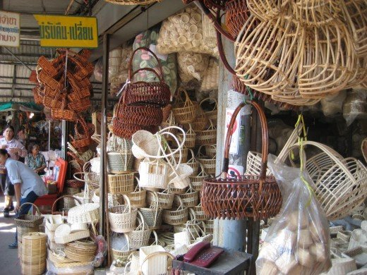 Hand weaved baskets make great home gift ideas