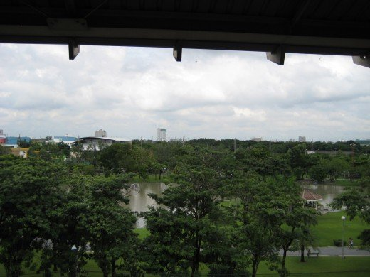 Chatuchak Park as seen from the BTS station platform