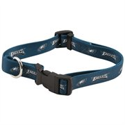 "Philadelphia Eagles NFL Pet Collar Adjustable 1"" Web"