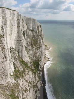 White Cliffs of Dover, resulting from chalk.
