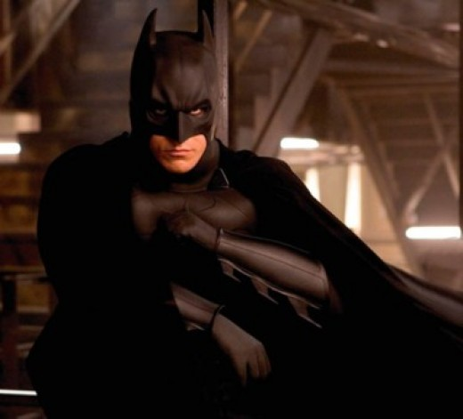 "Christian Bale as Batman in Nolan's 2005 film ""Batman Begins""."