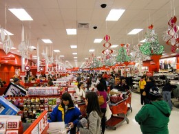 A Target store in the early hours of November 26, 2010, AKA Black Friday 2010.