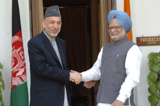 Karzai on his visit to India