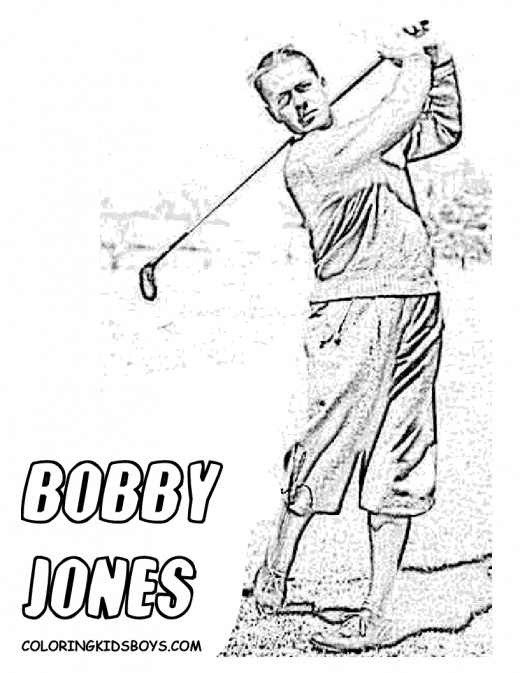 A page from the Bobby Jones Coloring Book